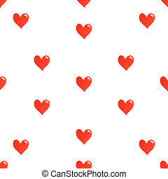 Simple Hearts Seamless Pattern - Simple seamless hearts...