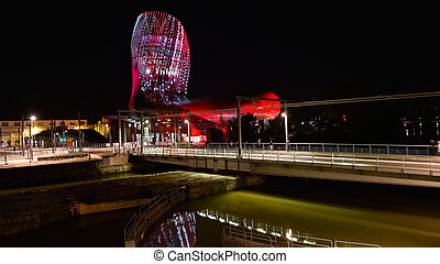 Wine museum of Bordeaux near Garonne river, France. - La...