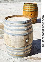 Barrels over floor