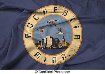 Waving Flag of Rochester, Minnesota, USA