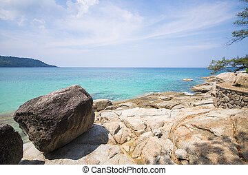 beautiful view of Kata Noi beach in Phuket