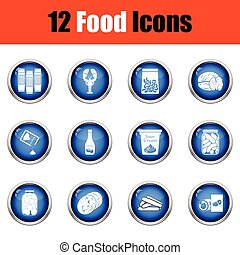 Set of food icons.