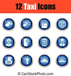 Set of twelve Taxi icons.