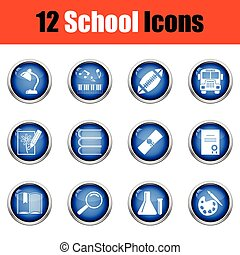 School icon set.