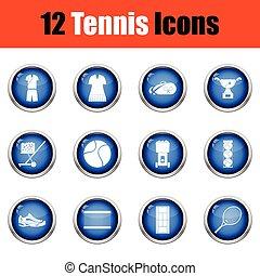 Tennis icon set.
