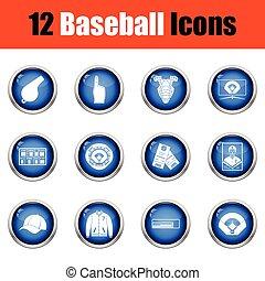 Baseball icon set.