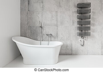 Bath which nothing distracts - Bathroom with freestanding...