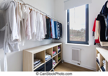 Functionality and light create the perfect a dressing room -...