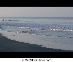 Varca beach , Goa - Deserted beach with ocean waves, Varca...