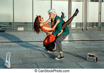 Old man dancing a fast dance. - Old man dance fast dance...