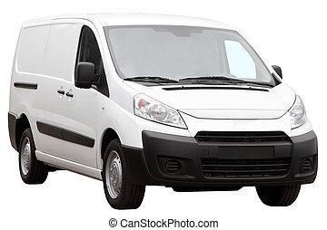 Small compact minivan. - Small compact minivan isolated on a...