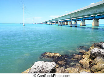 Seven Mile Bridge - 3 - The old and new seven mile bridge in...