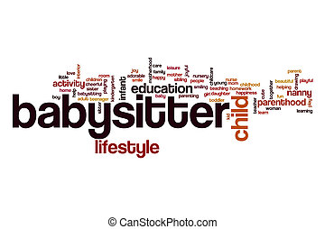 Babysitter word cloud concept