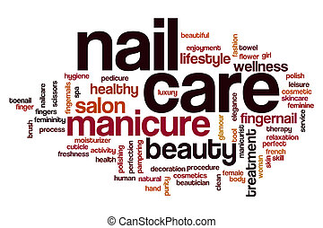 Nail care word cloud concept