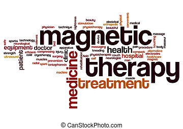Magnetic therapy word cloud concept