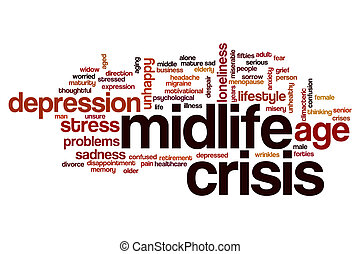 Midlife crisis word cloud