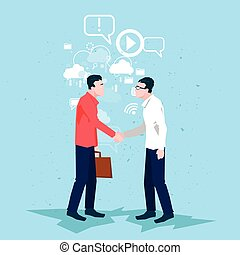 Businessman Handshake Business People Shaking Hand Deal