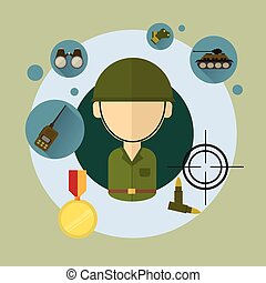 Military Man Soldier Icon