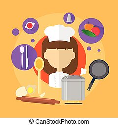 Chef Professional Cook Woman Icon