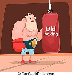 Senior Man Boxer Sport Box Gym Exercise Workout