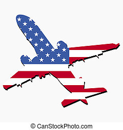 plane with American flag