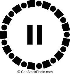 pause vector icon button
