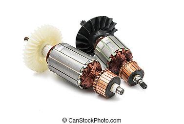 rotor, eléctrico,  motor, aislado