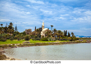 Hala Sultan Tekke or the Mosque of Umm Haram is a Muslim...