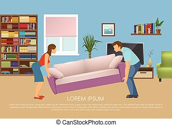 Young Family At Living Room Design