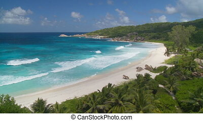 a perfect dream - tropical beach grand anse on la digue...