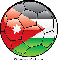 Jordan flag on soccer ball - vector illustration of Jordan...