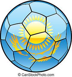 Kazakhstan flag on soccer ball