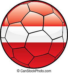 Latvia flag on soccer ball
