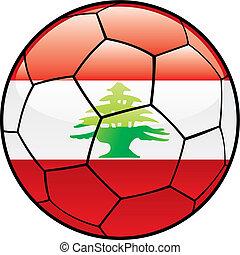 Lebanon flag on soccer ball