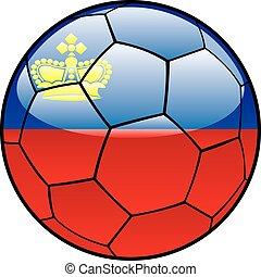 Liechtenstein flag on soccer ball