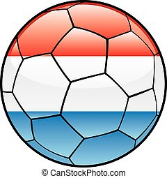 Luxembourg flag on soccer ball
