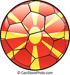 Macedonia flag on soccer ball