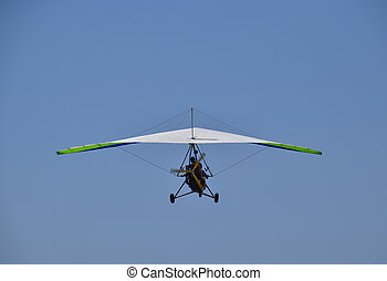 Trike, flying in the sky with two people Extreme...