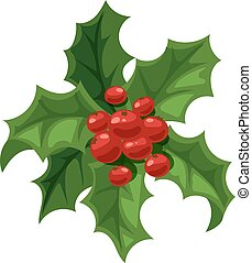 Christmas berry decoration vector set. - Merry Christmas...