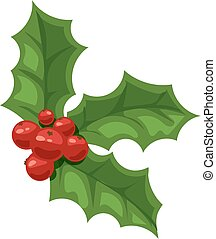 Christmas berry vector illustration - European christmas...