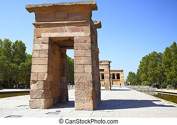Temple of Debod - Ancient egyptian temple of Debod in...