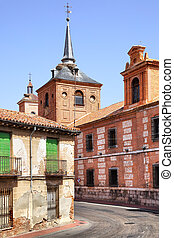 Alcala de Henares - Old street near Oidor church in Alcala...