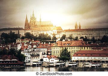 Hradcany in Prague - Prague View of Hradcany with St Vitus...