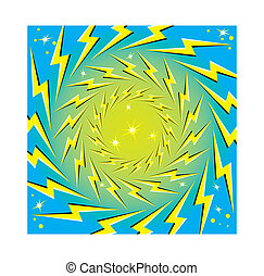 """Rotating Lightning Bolts"" - Lightning bolts spin in..."