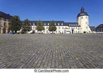 Historyczny, zamek, w, Siegen, Niemcy
