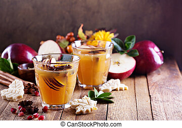 Warm apple cider with spices - Warm apple cider with...