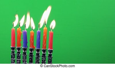 Hanukkah Candles, Jewish Holidays traditional Candelabra,...
