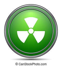 Radiation icon. Internet button on white background.