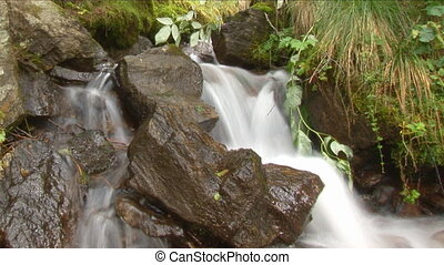 waterfall close slow shutter 1 - nice small waterfall close...