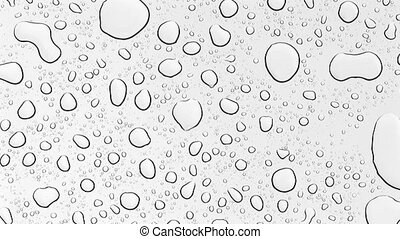 raindrops on car roof - raindrops are falling on glass car...